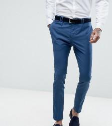 Noak Super Skinny Wedding Suit Trouser in Blue - Blue
