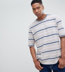 Noak T-Shirt In Knitted Jersey With Stripe - Green