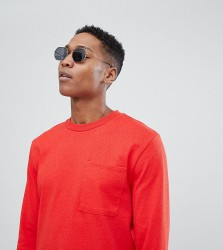 Noak T-Shirt In Relaxed Fit With Long Sleeves - Red