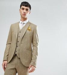 Noak TALL Skinny Suit Jacket In Fleck - Stone
