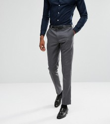 Noak TALL Tapered Trouser in Flannel - Grey