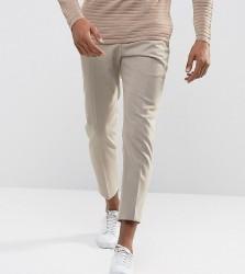 Noak Tapered Trouser in Flannel - Stone