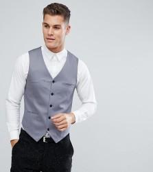Noak Waistcoat In Cotton Sateen - Grey
