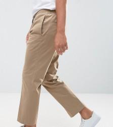 Noak Wide Leg Cropped Trouser - Stone