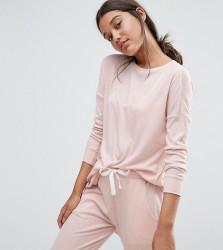 Nocozo Jersey Rib Scoop Hem Tunic - Pink