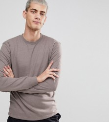 Nocozo Long Sleeve Sweat Top with Crew Neck - Beige