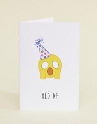 Nocturnal Paper Old AF Birthday Card - Multi