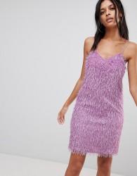 Noisy May Cami Dress With Fringing - Purple
