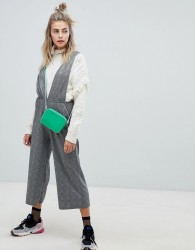 Noisy May check dungaree jumpsuit - Multi