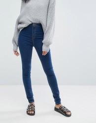 Noisy May High Waist Skinny Jean - Blue