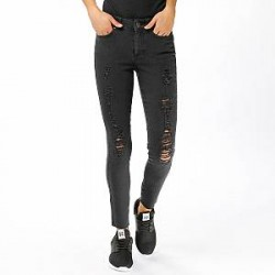 Noisy May Jeans - Lucy NW Slim Destroyed Ankle