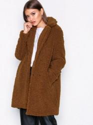 Noisy May Nmgabi L/S Jacket 5 Faux Fur Mørk Brun
