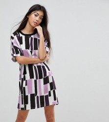 Noisy May Petite Graphic Print T-Shirt Dress - Multi