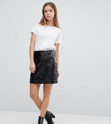 Noisy May Petite Vinyl Mini Skirt - Black