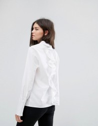 Noisy May Ruffle Back Shirt - White