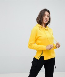 Noisy May Split Graphic Detail Hoodie - Yellow