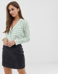 Noisy May stripe shirt - Green