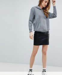 Noisy May Tall Faux Leather Skirt - Black