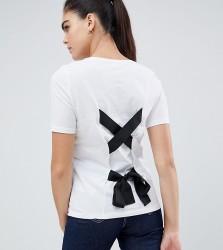 Noisy May Tall Tie Back T-Shirt - White