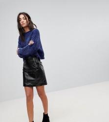 Noisy May Tall Vinyl Mini Skirt - Black