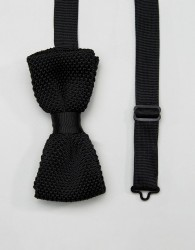 Noose & Monkey Knitted Bow Tie - Black