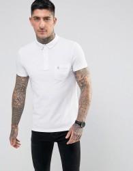 Noose & Monkey Polo Shirt with Pocket Logo - White