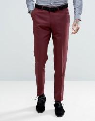 Noose & Monkey Skinny Tuxedo Trouser - Red