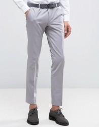 Noose & Monkey Super Skinny Suit Trousers - Grey