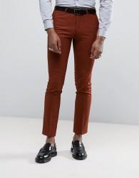 Noose & Monkey Super Skinny Suit Trousers - Orange
