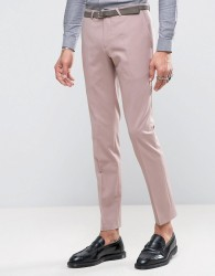 Noose & Monkey Super Skinny Suit Trousers - Pink