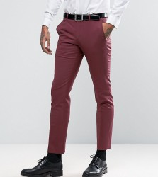 Noose & Monkey Super Skinny Suit Trousers - Red