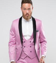 Noose & Monkey Super Skinny Tux Jacket - Pink