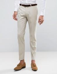 Noose & Monkey Superskinny Wedding Suit Trousers - Beige