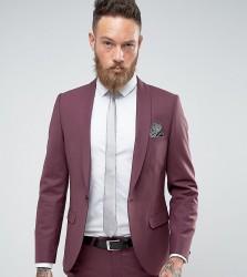 Noose & Monkey Wedding Super Skinny Suit Jacket - Red
