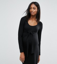 Noppies Maternity Knot Front Jersey Dress - Black