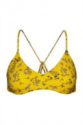 NORR By Erbs - Badetøj - Kamina Bikini Bra - Yellow Flower Print