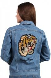 NORR - Jakke - Lucia Tiger Jacket - Medium Blue Denim