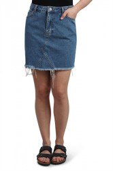 NORR - Nederdel - Lucia Short Skirt - Medium Blue Denim