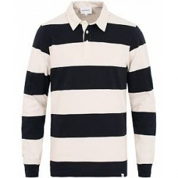 Norse Projects Ruben Long Sleeve Striped Rugby Navy/White