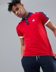 North Sails Polo Shirt With Sleeve Print In Red - Red