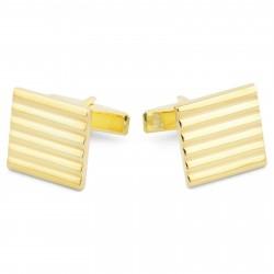 Northern Jewelry 925s-Manchetknapper i Guld med Riller