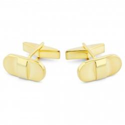 Northern Jewelry Firkantede 925s-Manchetknapper i Guld med Afrundede Hjørner