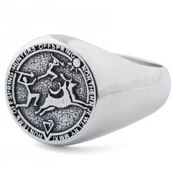 Northern Jewelry Hunter's Offspring Sølv Signetring 925s