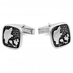 Northern Jewelry Manchetknapper med Dansk Hyldest i 925s Sølv