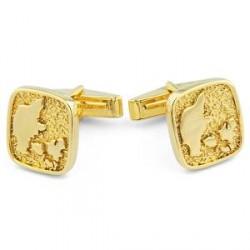 Northern Jewelry Manchetknapper med Dansk Hyldest i 925s-Sølv og Guld