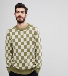 Nudie Jeans Co Elof Checkerboard Jumper - Green