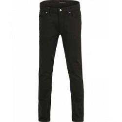 Nudie Jeans Dude Dan Organic Slim Fit Stretch Jeans Dry Everblack
