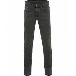 Nudie Jeans Grim Tim Organic Slim Fit Jeans Black Seas