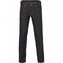 Nudie Jeans Grim Tim Organic Slim Fit Jeans Dry Open Navy
