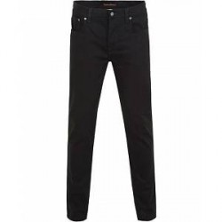 Nudie Jeans Grim Tim Organic Slim Fit Stretch Jeans Cold Black